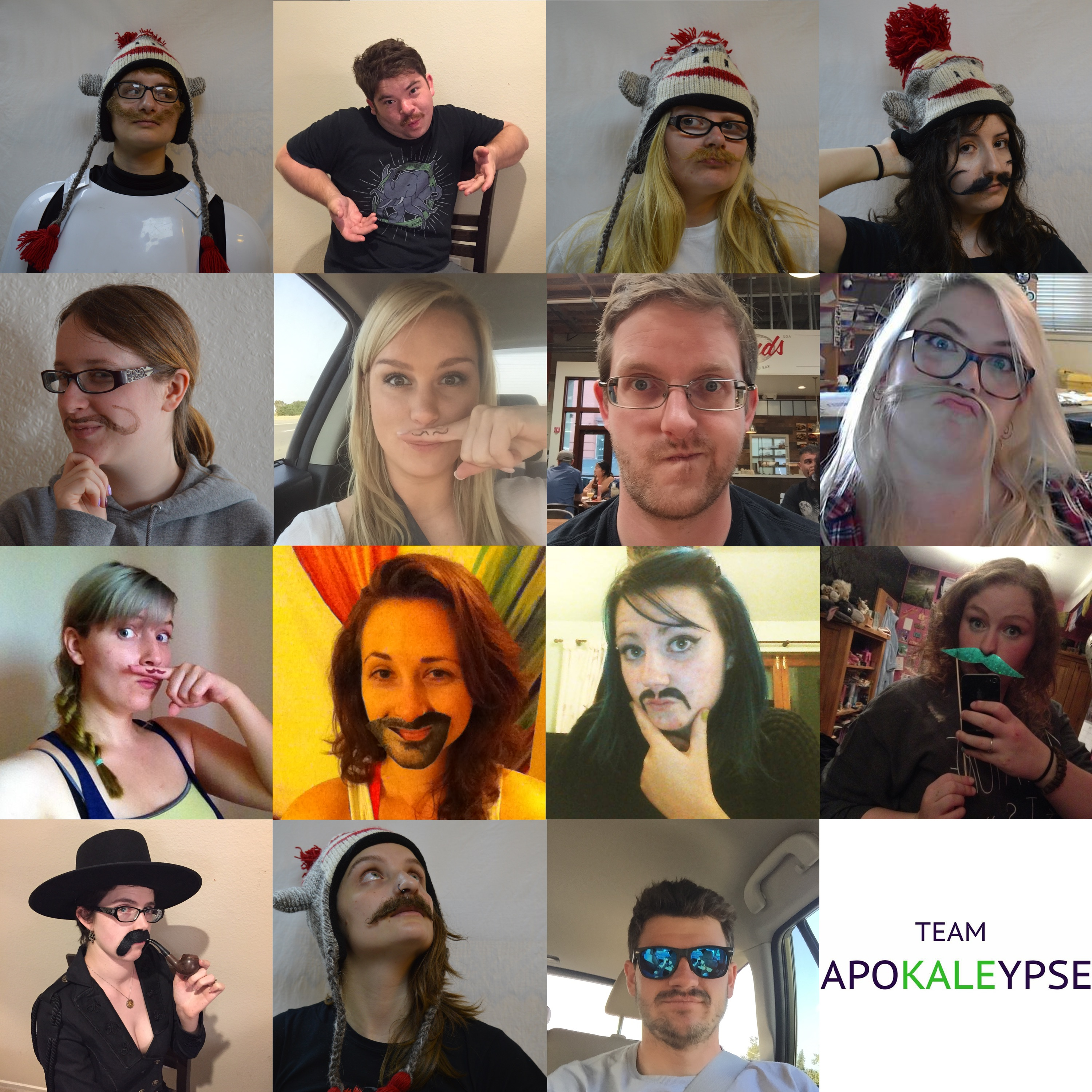 GISHWHES 2015 - Team Apokaleypse - Item 34 - Mustache Group Photo