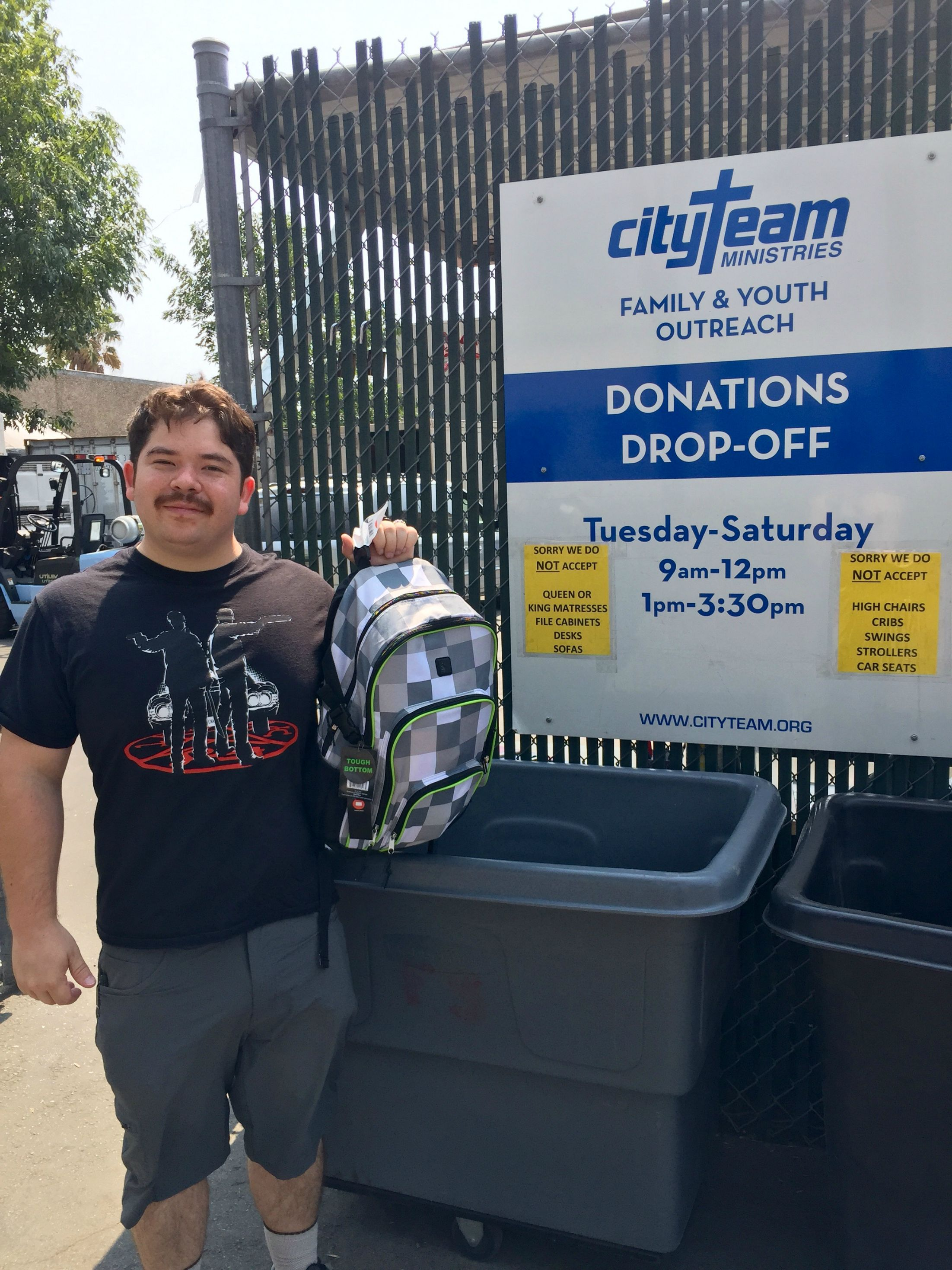 Item 208 - Backpack Donation