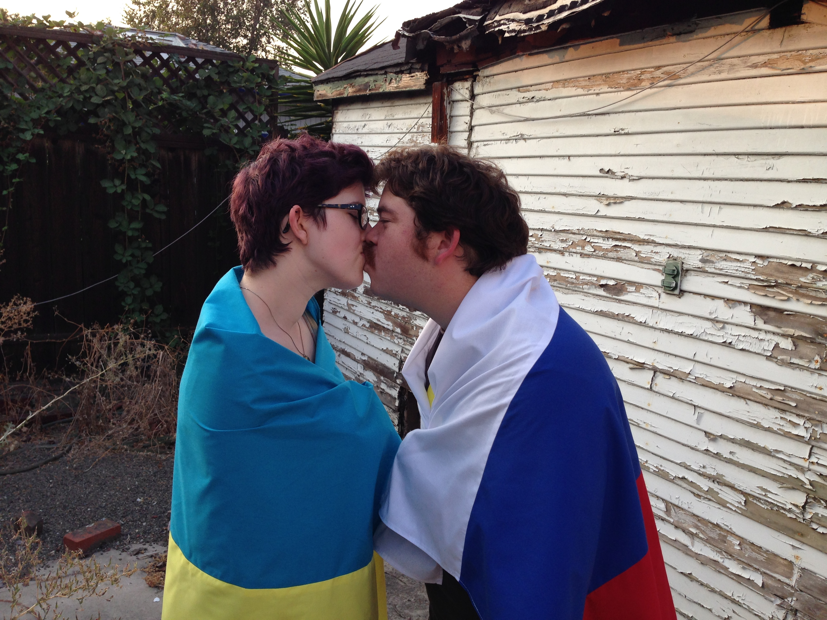 Item 44 - Flag Kiss