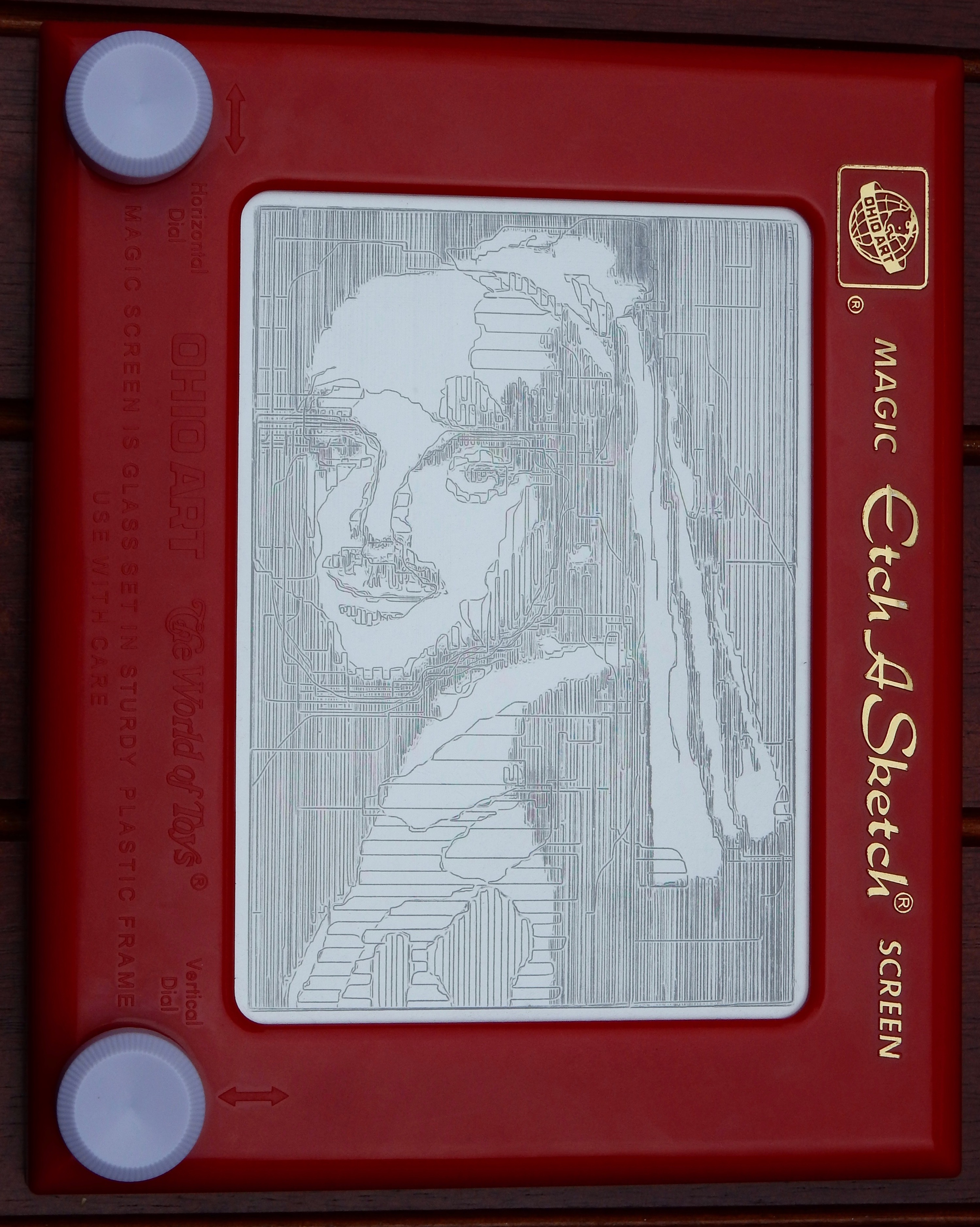 Item 68 - Supernatural Etch-A-Sketch Portrait