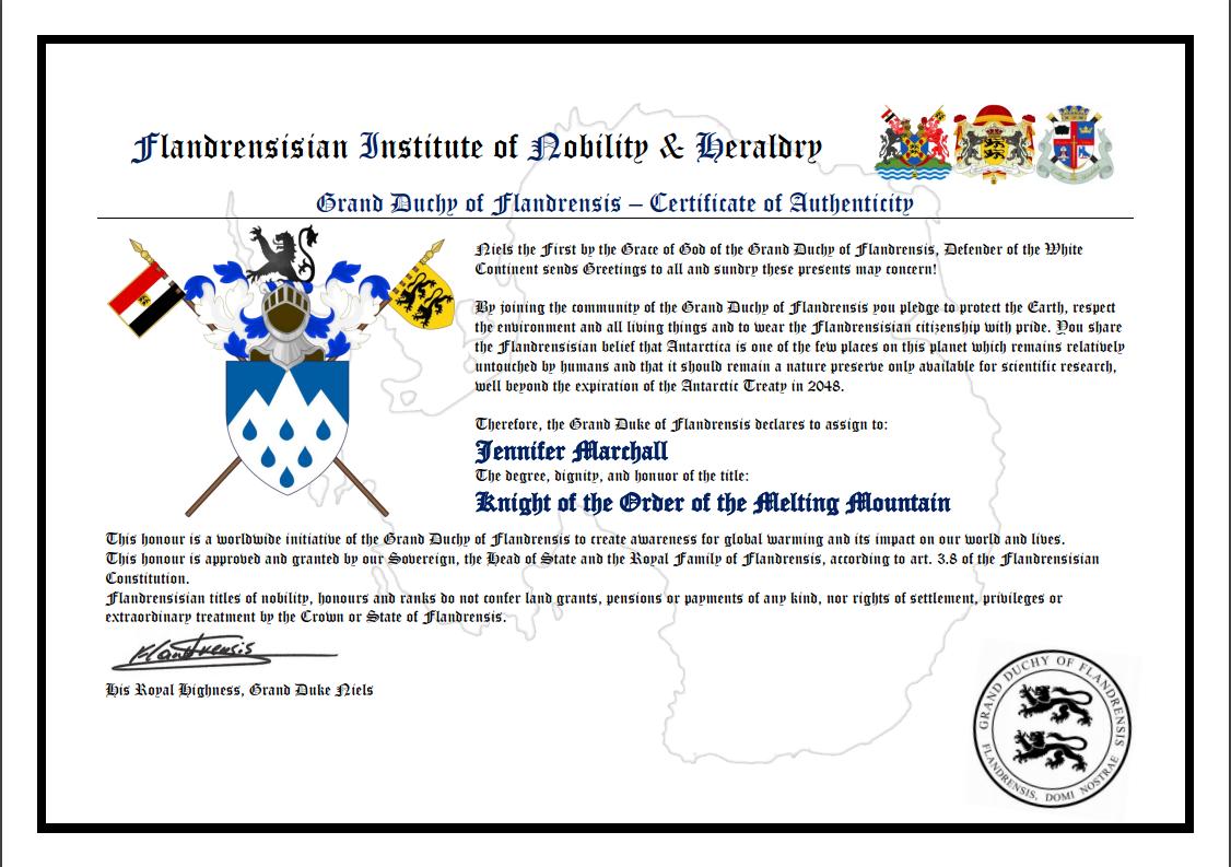 Item 80 - Micronation Citizenship